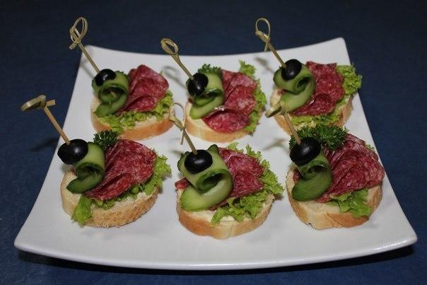 Бутерброды с колбасой фото и рецепт