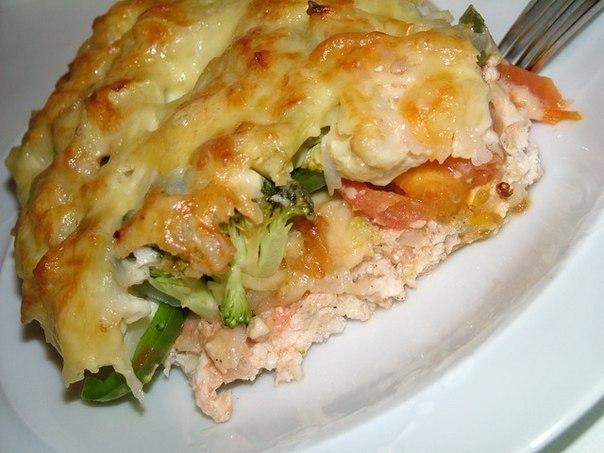 Запеканка с куриным филе и овощами рецепт