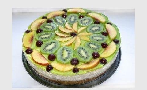 Оформление тортов фото фруктами