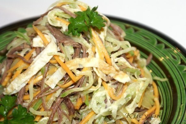 Салат из редьки и мяса рецепты