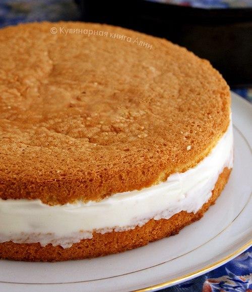 Крем для бисквитного торта рецепт с фото пошагово в домашних
