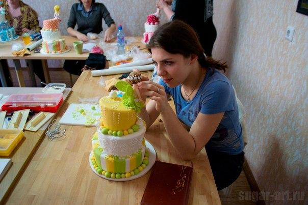 Мастер класс по тортам фото