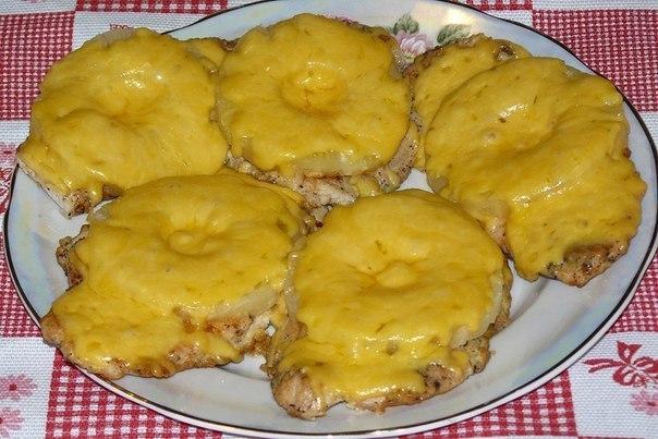 Рецепт грудка под ананасами