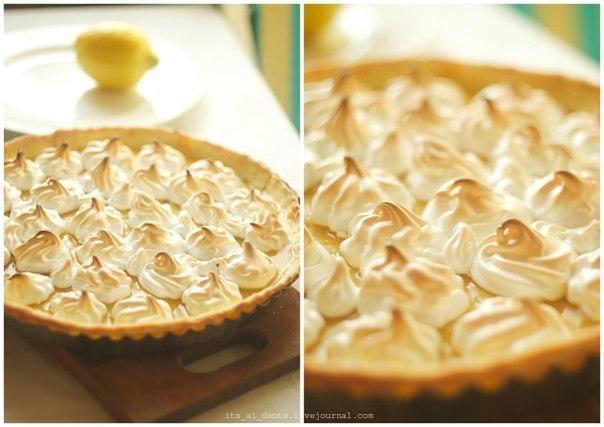 Рецепт лимонного пирога с меренгой с